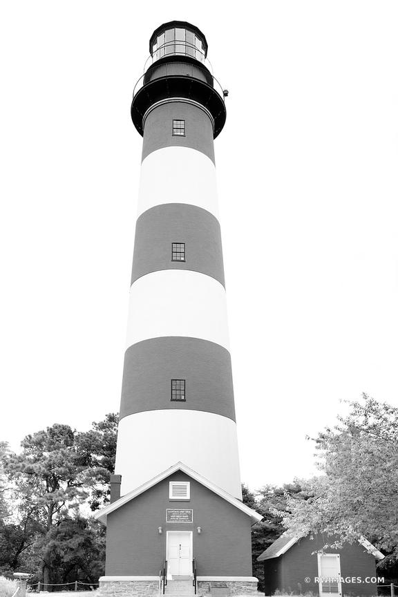 ASSATEAGUE LIGHTHOUSE ASSATEUGUE ISLAND CHINCOTEAGUE NATIONAL WILDLIFE REFUGE VIRGINIA BLACK AND WHITE