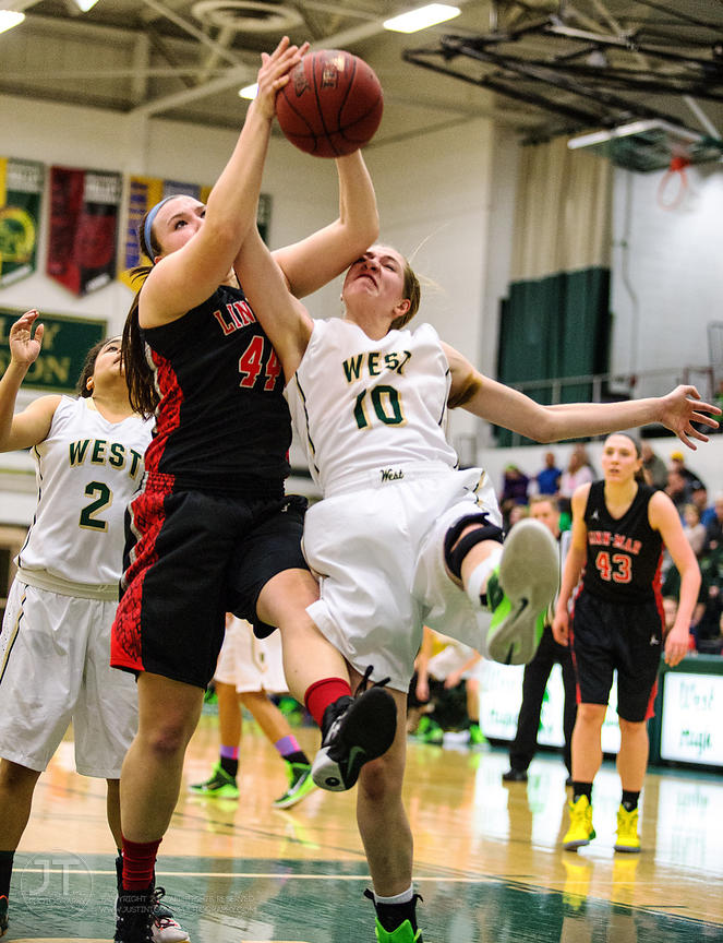 P-C - Girl's Basketball, Iowa City West vs Linn-Mar, January 16, 2015