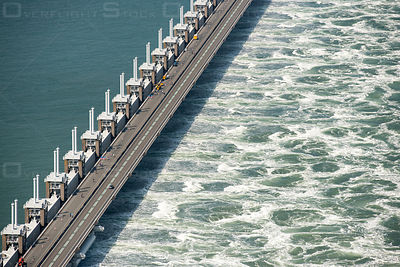 Eastern Scheldt Storm Surge Barrier Islands Schouwen-Duiveland and Noord-Beveland Netherlands
