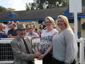 24th Sept 2013 - 3.20pm Novices Hurdle with winner Angles Hill