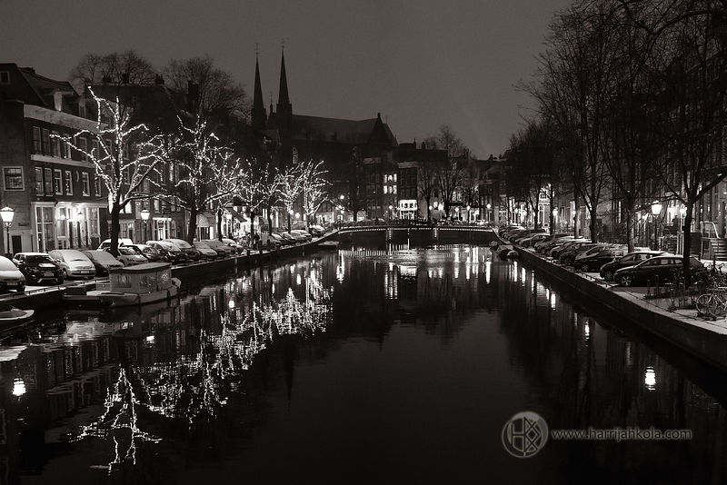 Netherlands - Amsterdam (Singel and Snow)