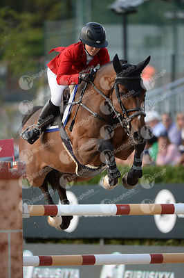 Emma AUGIER DE MOUSSAC ,(CZE), CHARLY BROWN during Longines Cup of the City of Barcelona competition at CSIO5* Barcelona at R...