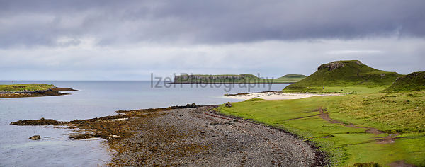 The coral beaches of Lampay, Claigan near Dunvegan on the Isle of Skye, Scotland, UK.
