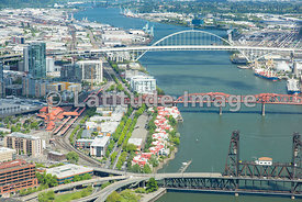 bridges on the Willamette River; Portland, Oregon