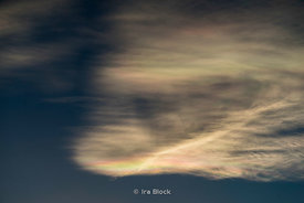 Iridescenced Clouds in Tibet near Tingri, and not far from Mt. Everest. The rainbow looking clouds are caused by ice crystals...