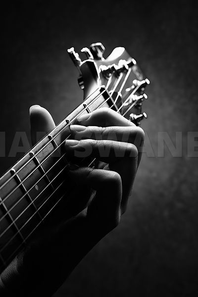 Guitarist hand close-up