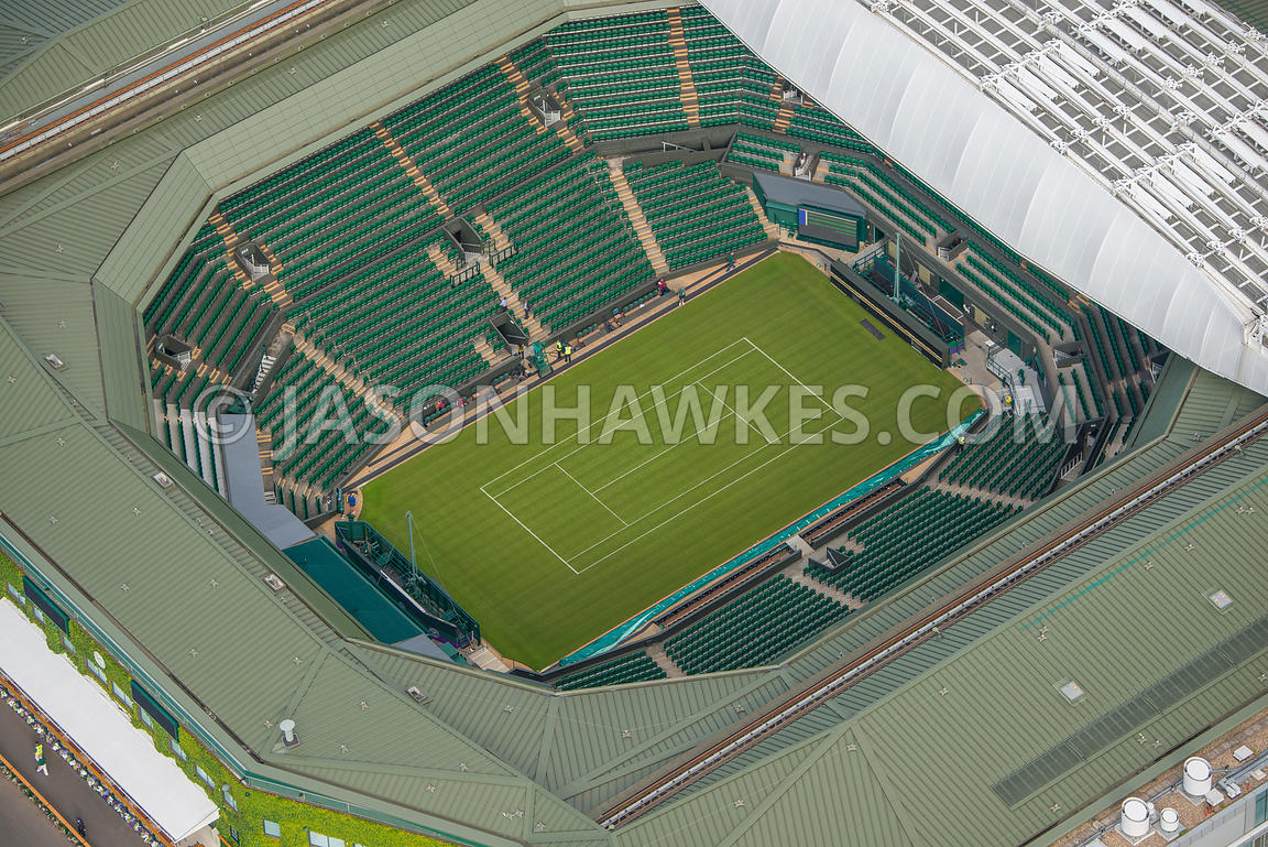 Aerial view of London, All England Lawn Tennis Club.