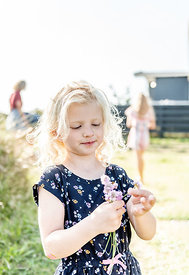 Little Danish girl with flowers 4