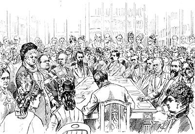 Elizabeth Cady Stanton addresses Senate committee in 1878