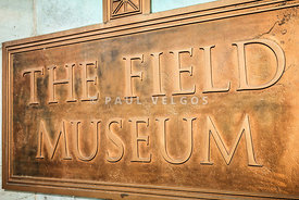 The Field Museum Sign in Chicago Illinois