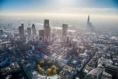 Finsbury Circus, City of London, aerial view