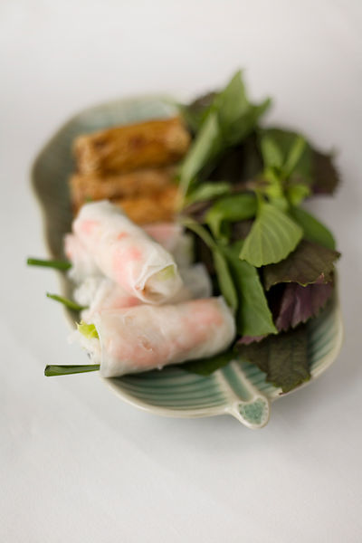 Vietnam - Ho Chi Minh City. A selection of Spring Rolls