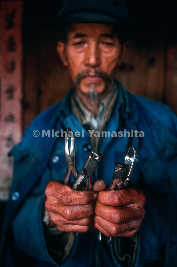 Dental tools left by National Geographic explorer, Joseph Rock..Yuhu, Yunnan, China