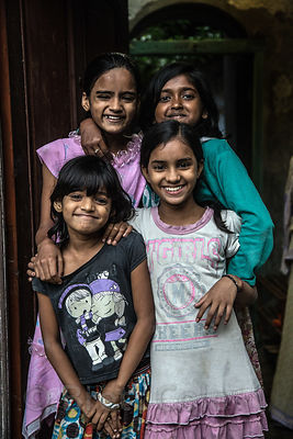 A group of girl friends, Bowbazar, Kolkata, India