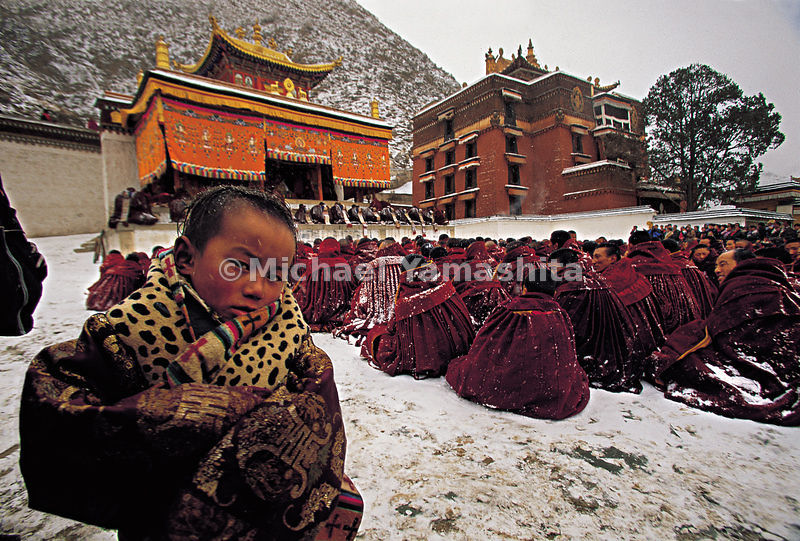 The trapa, (novices) enter the monastery around the age of six and become gelong (monks) when they reach adulthood.