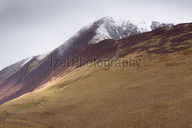 A snow covered Grisedale Pike in the Lake District