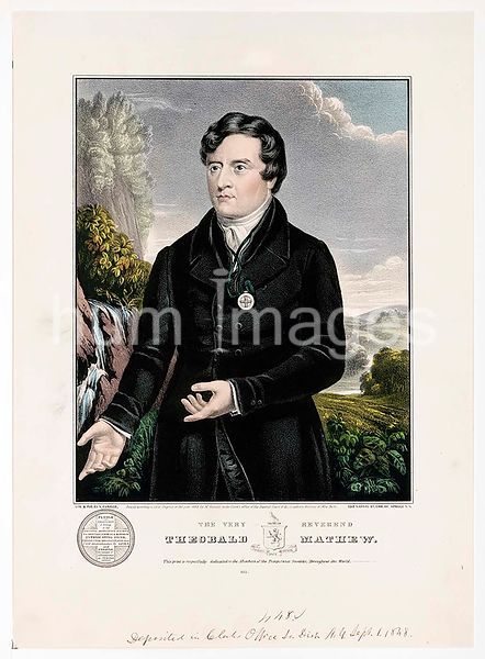 The very Reverend Theobald Mathew this print is respectfully dedicated to the members of the Temperance Societies, throughout...