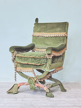 Mid 20thc throne chair