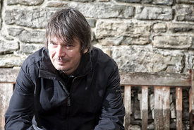 Author Ian Rankin. Photographed at The Dean Village, Water of Leith, Edinburgh.