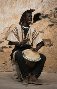 Djembe drummer, Traditional band, Goree island, Senegal