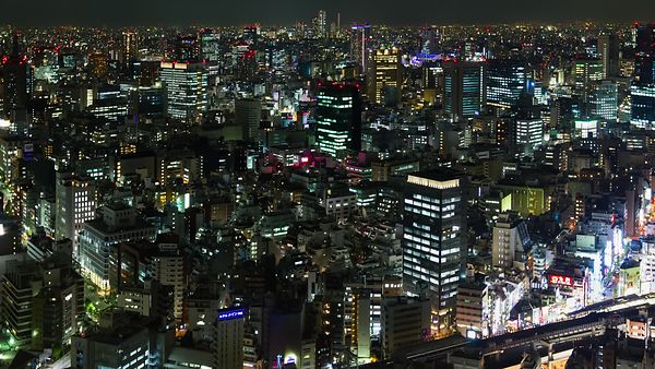 Bird's Eye: City Lights of Tokyo