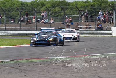 PGF-Kinfaun's Aston Martin Vantage GT3 in action at the Silverstone 500 - the third round of the British GT Championship 2014...