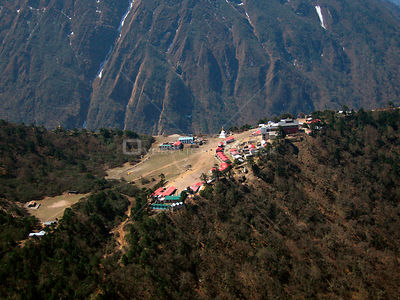 NEPAL Tengboche -- 16 Apr 2005 -- Aerial photograph of the famous Tengboche Monastery in the Solu Khumbu region. Situated at ...