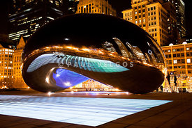 Chicago Cloud Gate Luminous Field