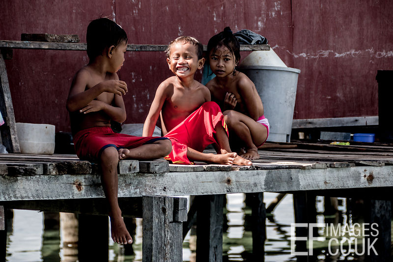 Sea Gypsy Children Hanging Out