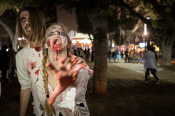 The annual zombie 'walk, Tel-AVIV,2017. photos