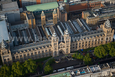 Aerial view of the Natural History Museum, South Kensington, London