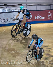 Junior Women Sprint 1/2 Final. Ontario Track Championships, March 2, 2019