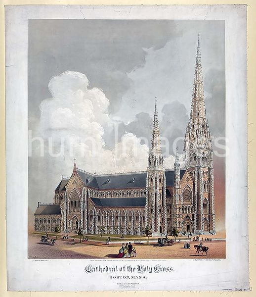 Cathedral of the Holy Cross, Boston, Mass ca 1871