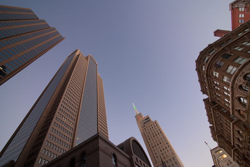 Comerica Tower and the Mercantile