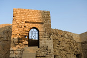 the Arab tower in the Shallalat gardens formed part of the ninth-century defences of the city, Alexandria, Egypt
