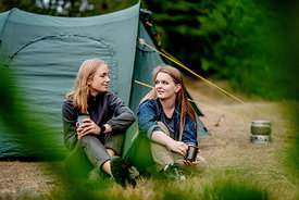 Two girls camping in Denmark 3