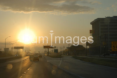 Texas highway 183 in Irving Texas early morning