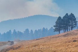 Smoke Rising from a Prescribed Burn in Valles Caldera National Preserve