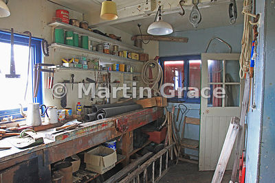 Workshop in British Antarctic Survey Base Y (1955-60, 1969), Horeshoe Island, Marguerite Bay, West Graham Land, Antarctic Pen...