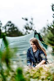 Girl camping in Denmark 6