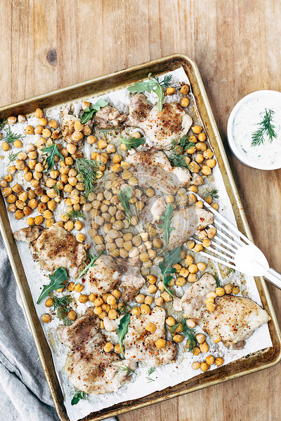 Roasted Chicken and Chickpeas