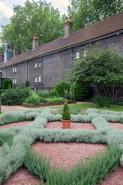 UK - London - The Herb Garden at the back of the Geffrye museum