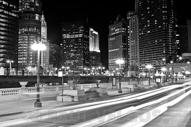Chicago Wacker Drive at State Street
