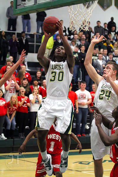 Iowa City West vs Davenport West Boys Basketball Regional Semifinal Class 4A 2/24/12