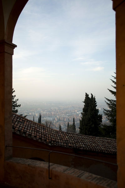 Italy - Bologna - A view of Bologna from the Santuario di Santa Luca