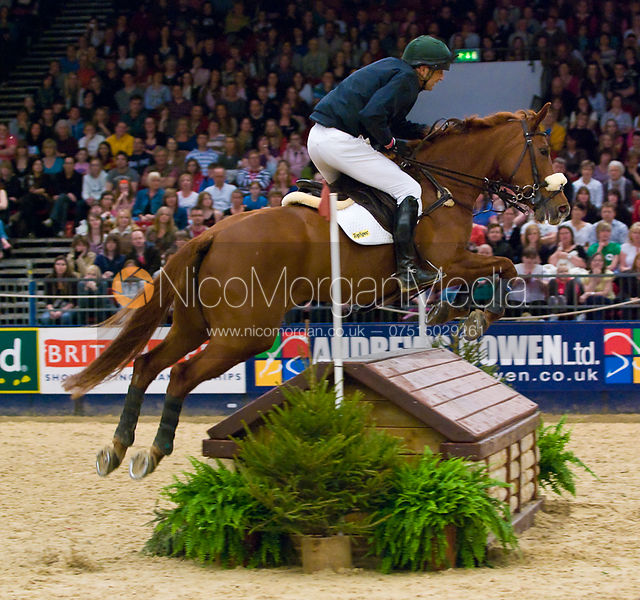 Eventers try their hand at Indoor arena eventing during the British Open at the NEC, 2009