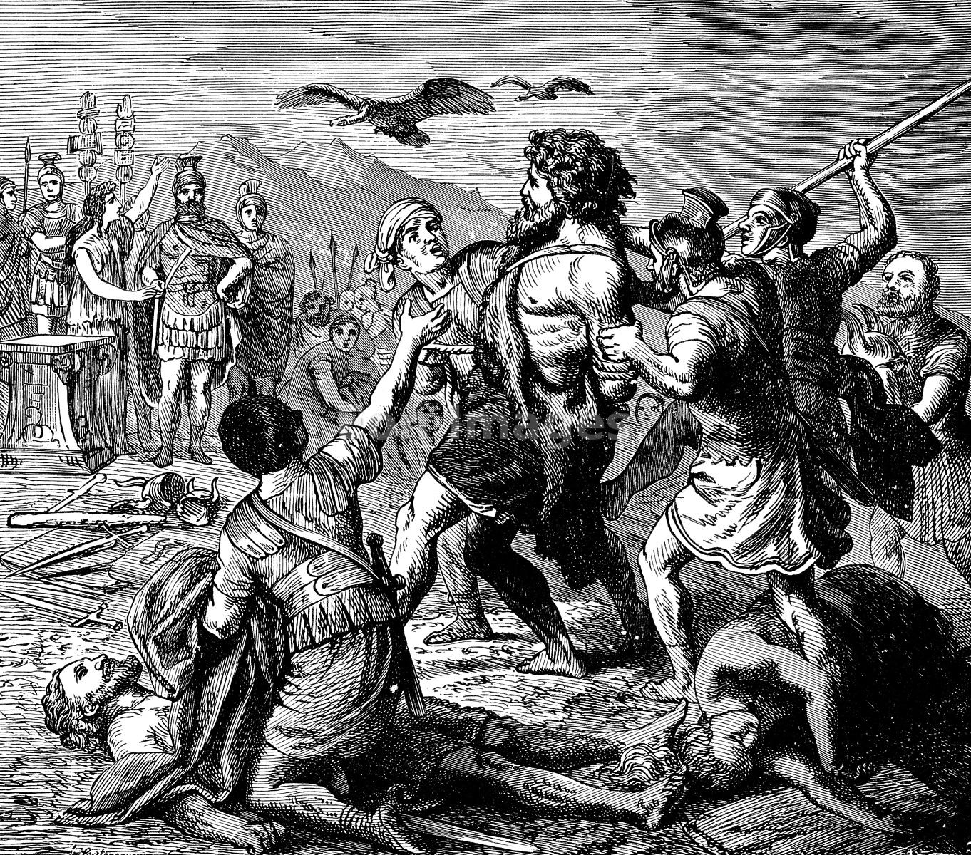 Romans capture Germanic leader Teutobochus
