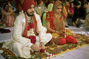 India - New Delhi - A Sikh wedding