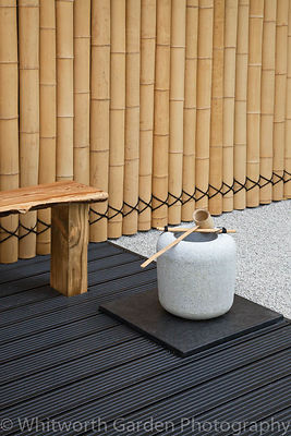 "The Japanese themed garden ""Less and More"" designed by Kevin Young at the RHS Hampton Court Flower Show 2011. © Rob Whitworth"