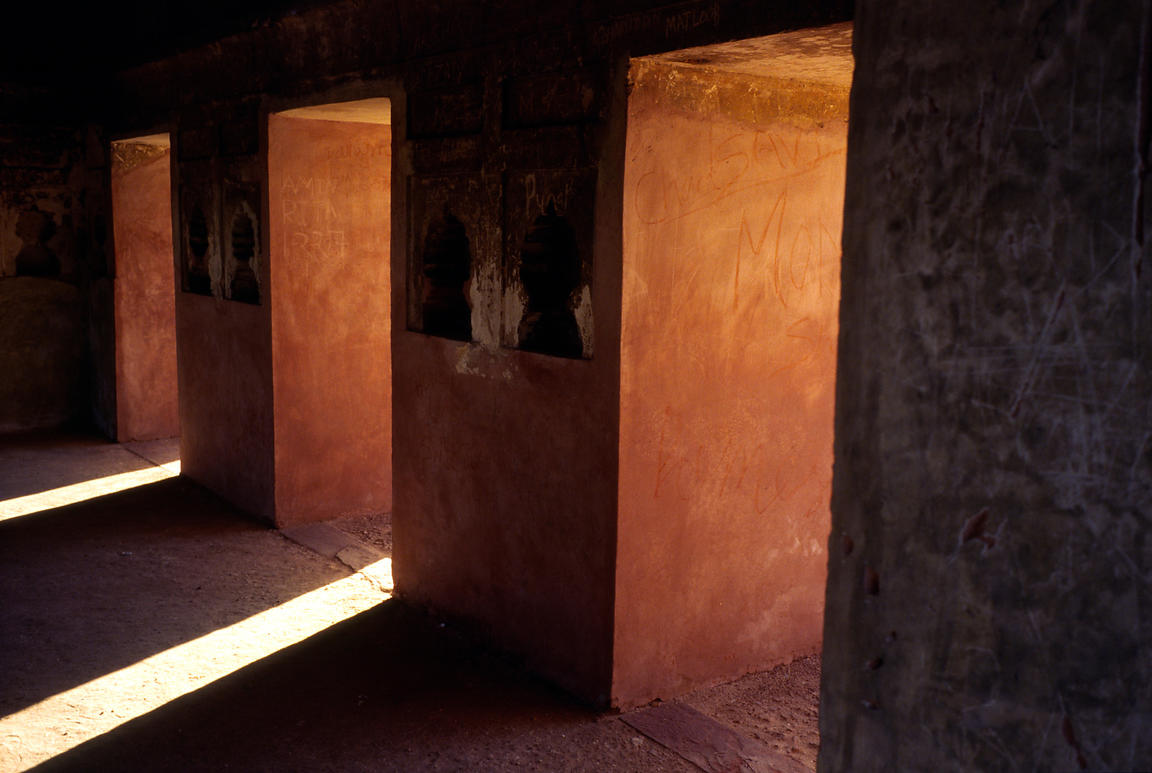 India - Delhi - Shafts of light in a building in the grounds of Humayun's tomb